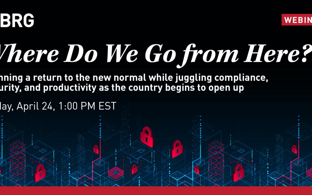 Webinar: Where Do We Go from Here?
